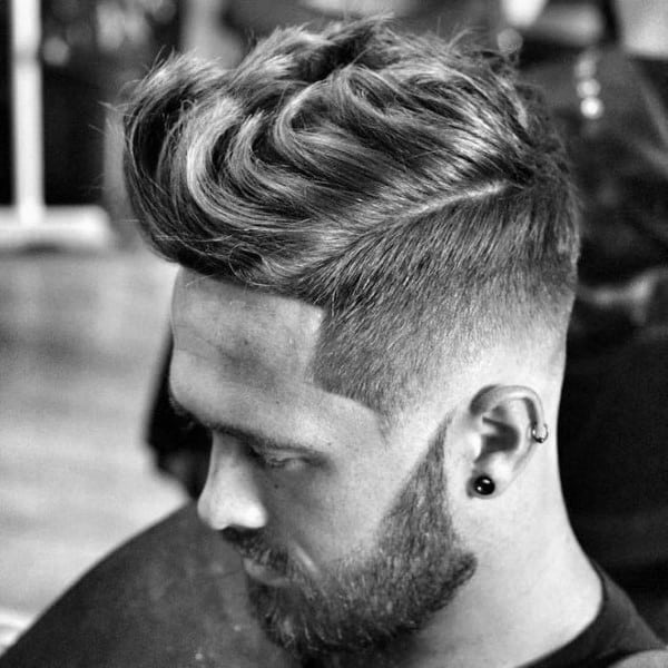 Wavy Quiff Hair For Guys With Fade On Sides