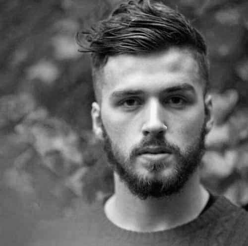 Wavy Short Length Mens Haircuts With Fade