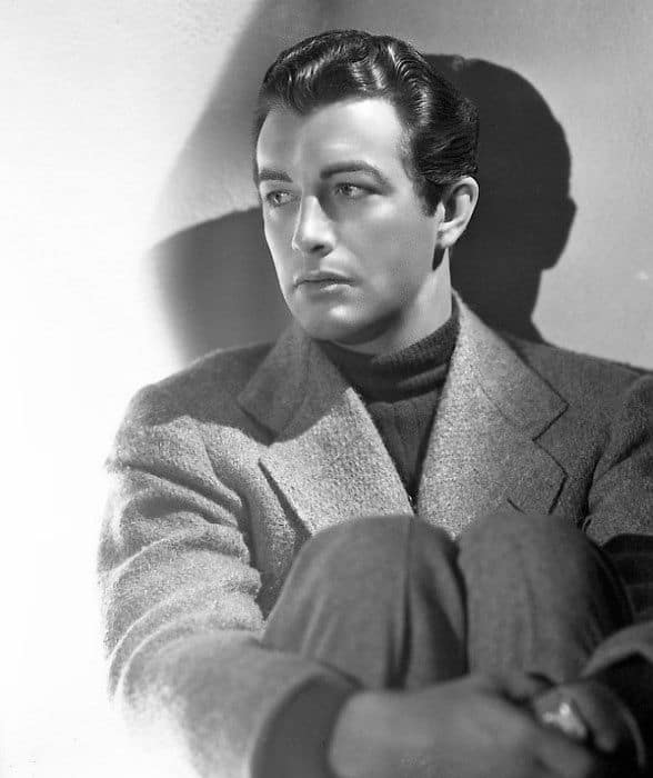 Wavy Slicked Robert Taylor 1940s Hairstyles For Males