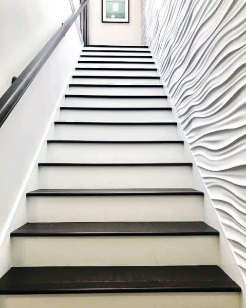 Wavy Staircase Luxury Textured Wall Ideas