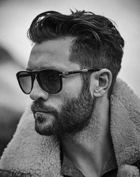 Wavy Stylish Mens Cuts For Medium Hair