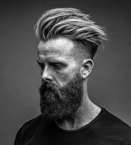 Wavy Thick Medium Guys Undercut Hair And Beard