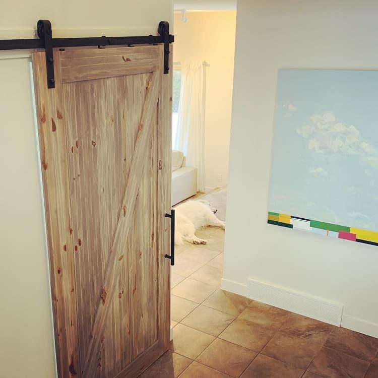 Weathered Wood Closet Barn Door