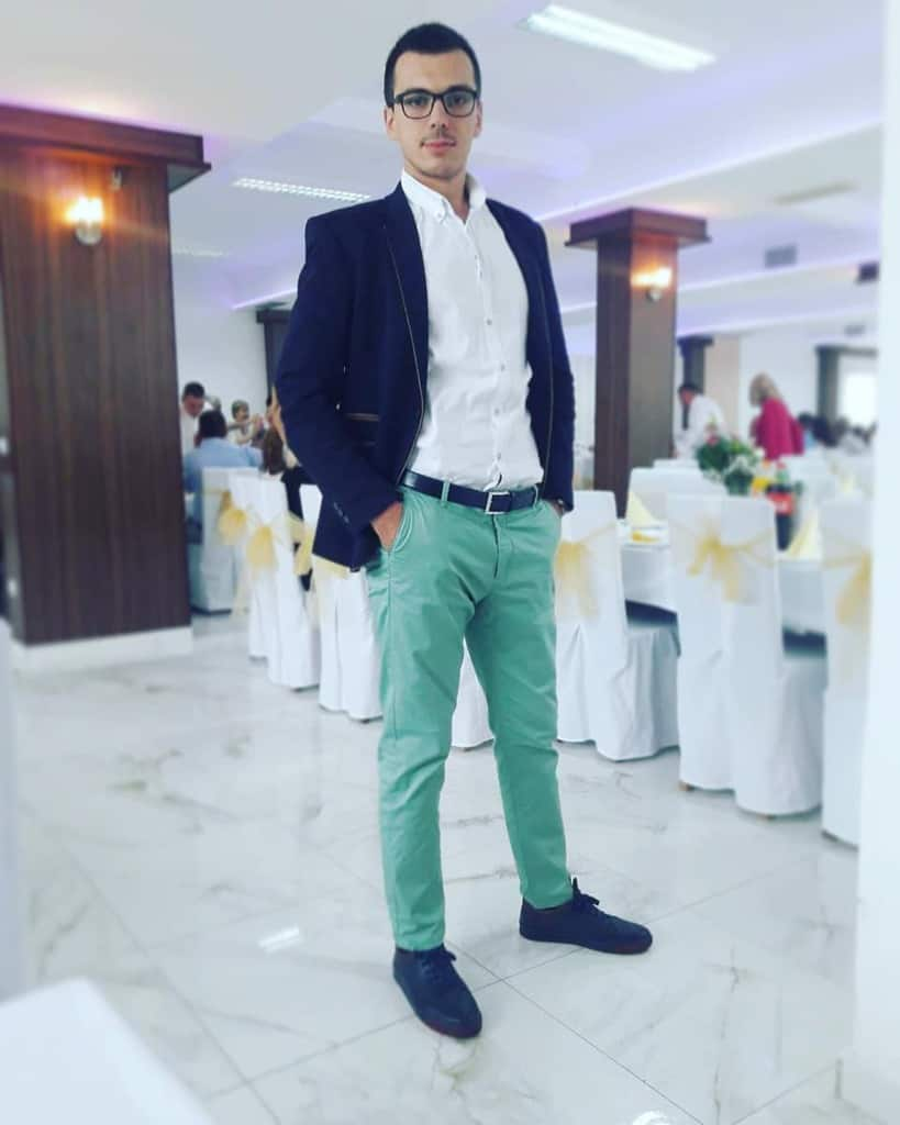 Wedding Suit Green Pants Outfit