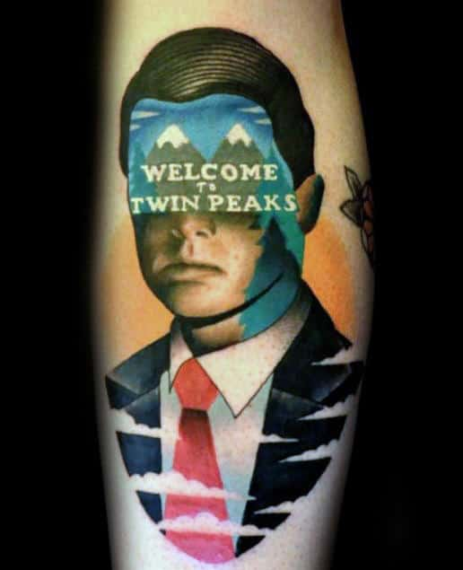 Welcome To Twin Peaks Mens Arm Tattoos