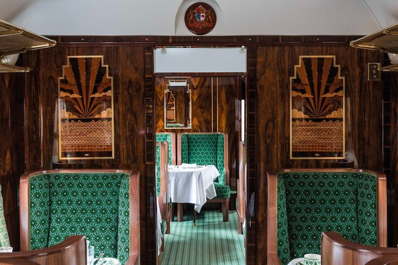 All Aboard the Belmond & Wes Anderson British Pullman Train Carriage