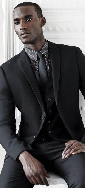 What To Wear With A Black Suit Mens Styles