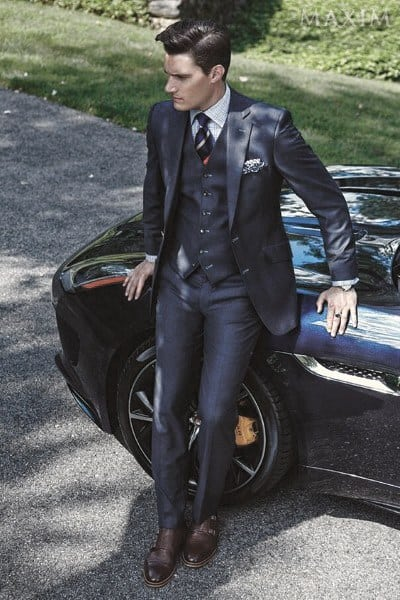 What To Wear With A Navy Blue Suit Mens Styles