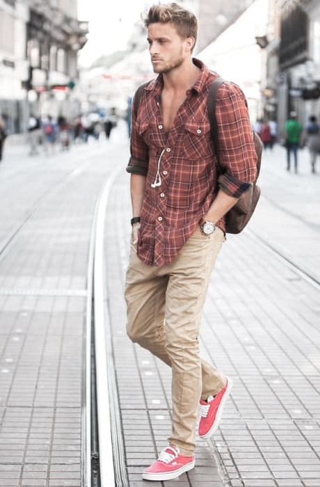 What To Wear With Awesome Khaki Pants Outfits Styles For Men Red Casual  Shirt
