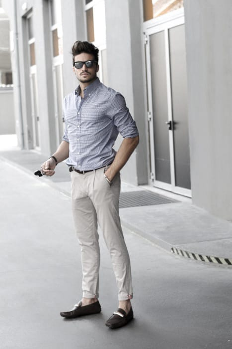 What To Wear With Guy With Sharp Looking Khaki Pants Outfits Outfit