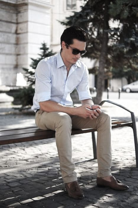 What To Wear With Guys Khaki Pants Outfits Style Designs