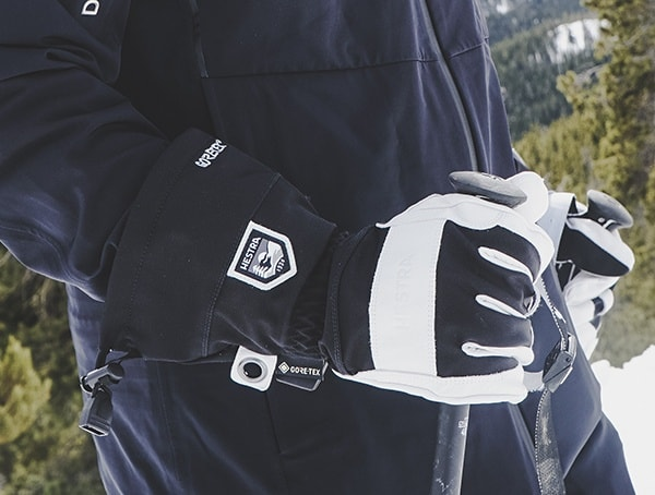 White And Black Hestra Army Leather Heli Ski Gtx Plus Gore Grip Gloves Review