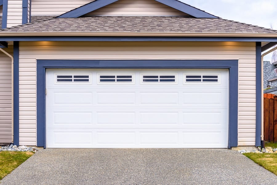 Traditional White Garage Door Exterior Design