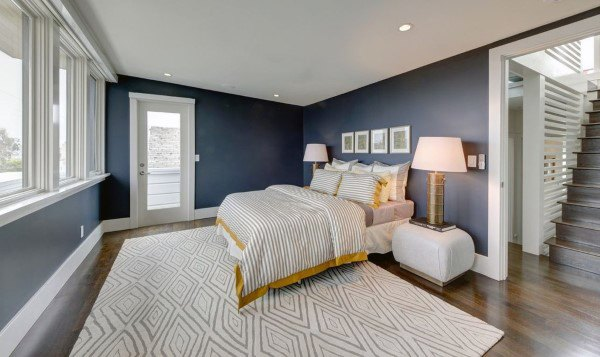 Top 50 Best Navy Blue Bedroom Design Ideas - Calming Wall ...