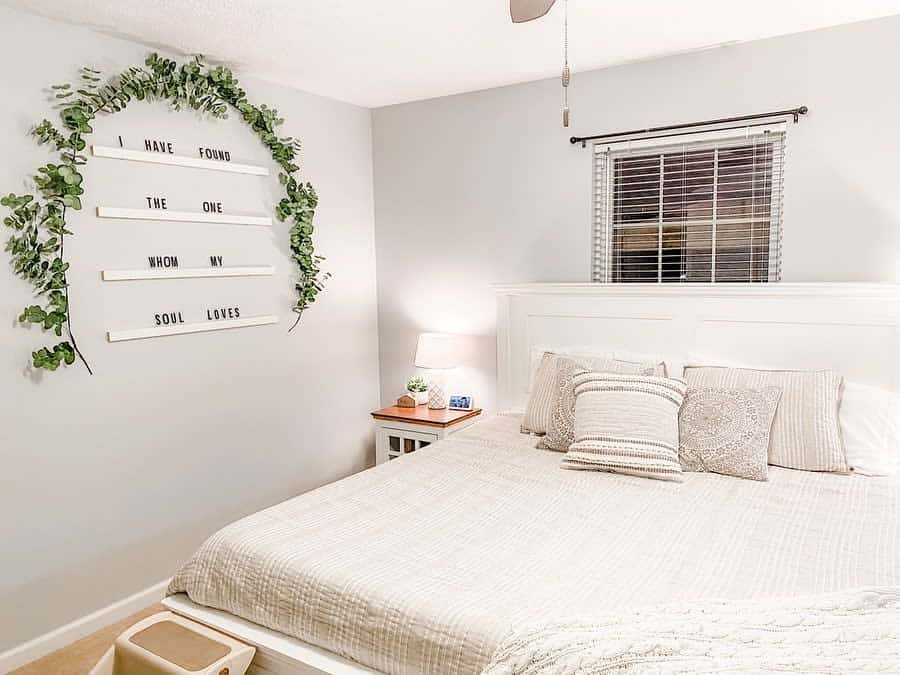 white apartment bedroom ideas kali_weisenberger