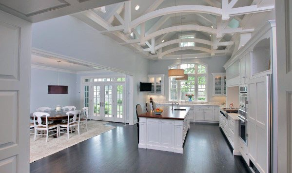 White Arches Kitchen Ceiling Ideas