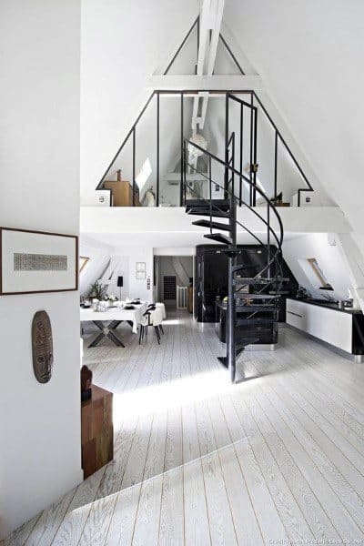 White Attic Loft Ideas