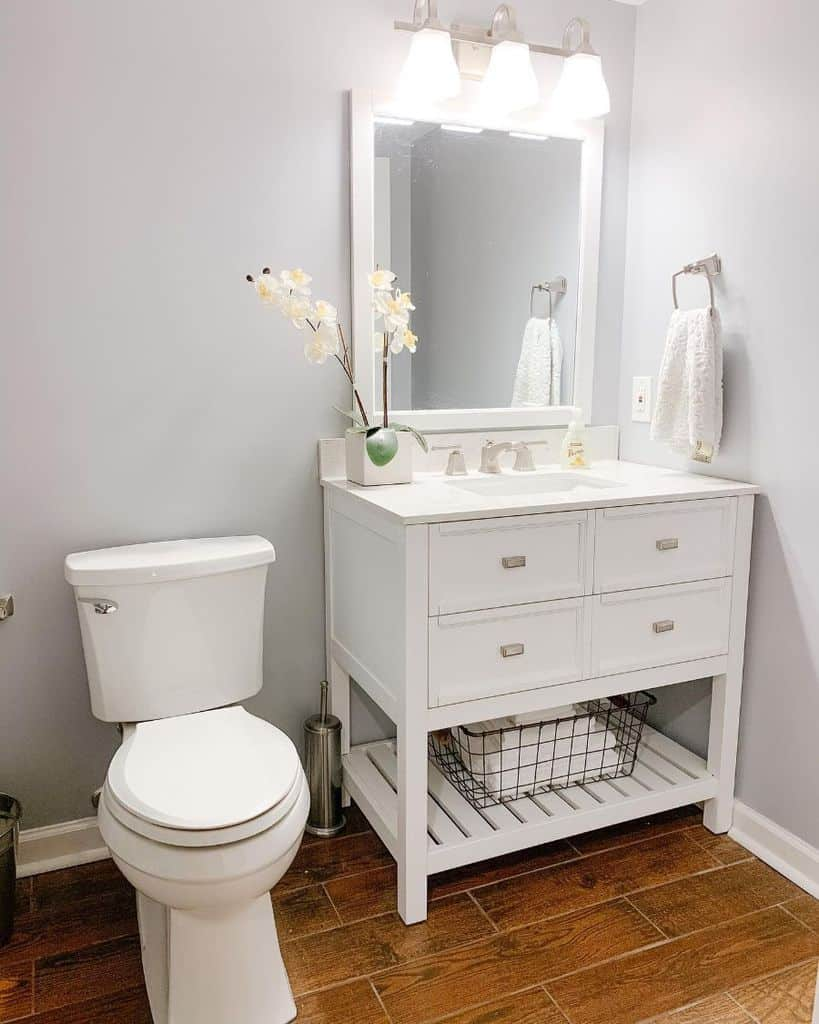 White Basement Bathroom Modernonmadison