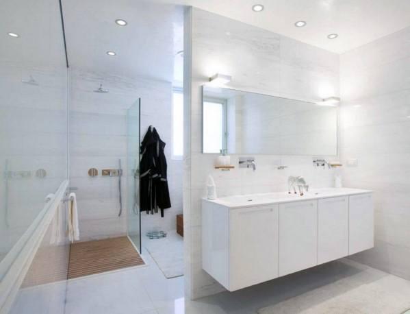 White Bathroom Inspiration Wall Hung Vanity Sink