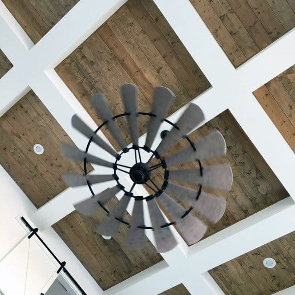 White Beam Painted Coffered Wood Ceiling Ideas