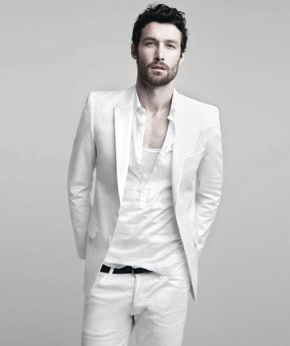 White Blazer Mens All White Outfit Styles