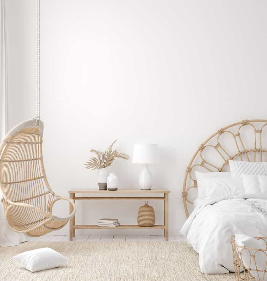 white boho bedroom ideas