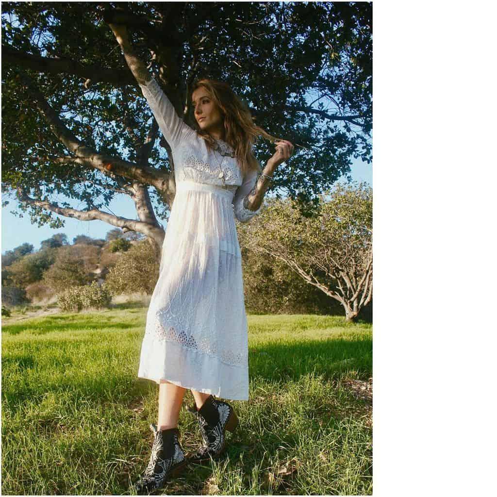 White Boho Victorian Style Dress