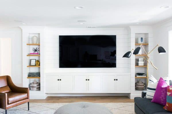 top 70 best tv wall ideas living room television designs. Black Bedroom Furniture Sets. Home Design Ideas