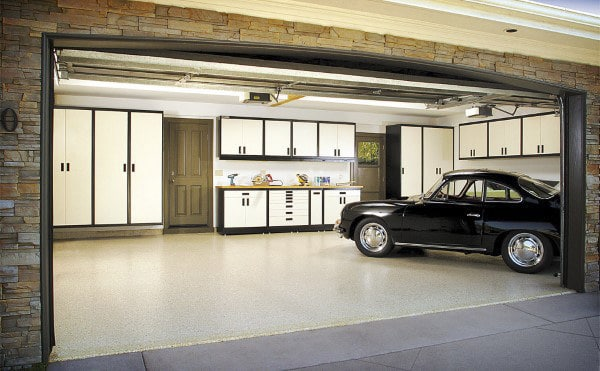 White Cabinet Cool Storage Organization For Garages