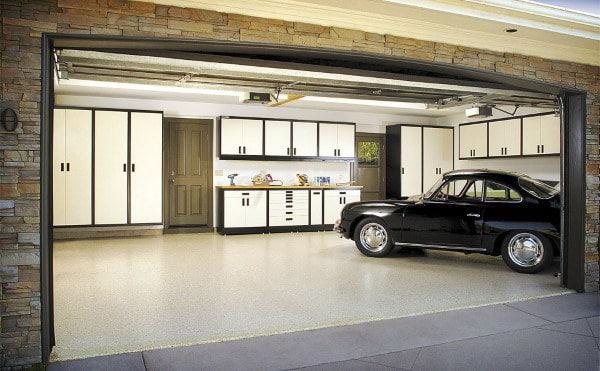 White Cabinet Cool Storage Organization For Garages