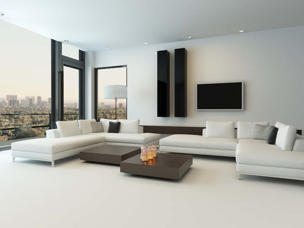 White Decor Pieces Minimalist Living Room 5