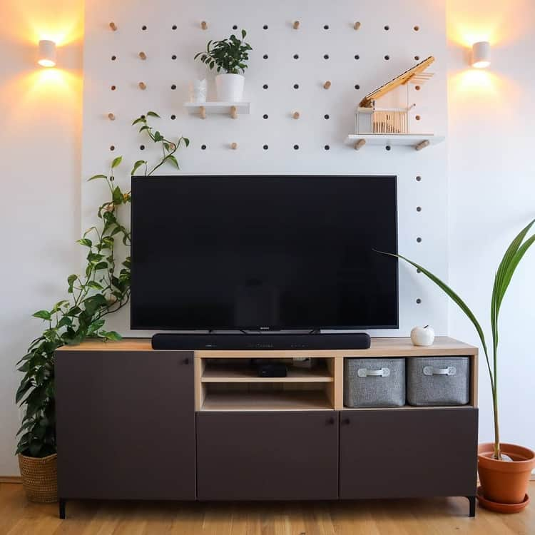 White Diy Wall Decor Storage Display Pegboard Ideas Mansarda 42