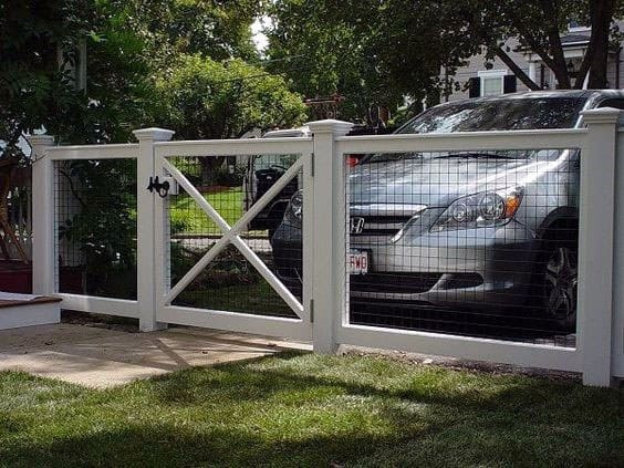 White Dog Fence Ideas