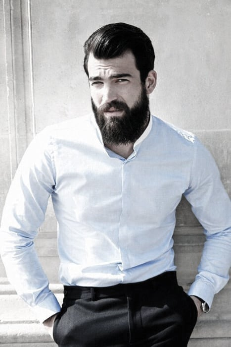 White Dress Shirt Sharp Professional Beards For Guys