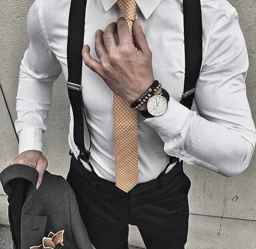 White Dress Shirt With Gold Tie Trendy Outfits Cool Mens Style Inspiration