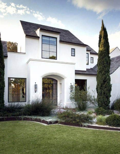 White Exterior Ideas For House Paint