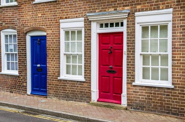 White Exterior Window Trim For Brick Homes