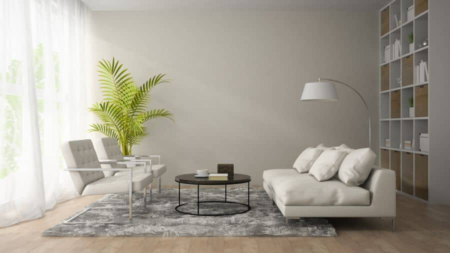 White Family Room Ideas 1