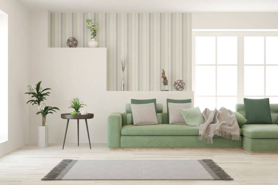 White Family Room Ideas 3