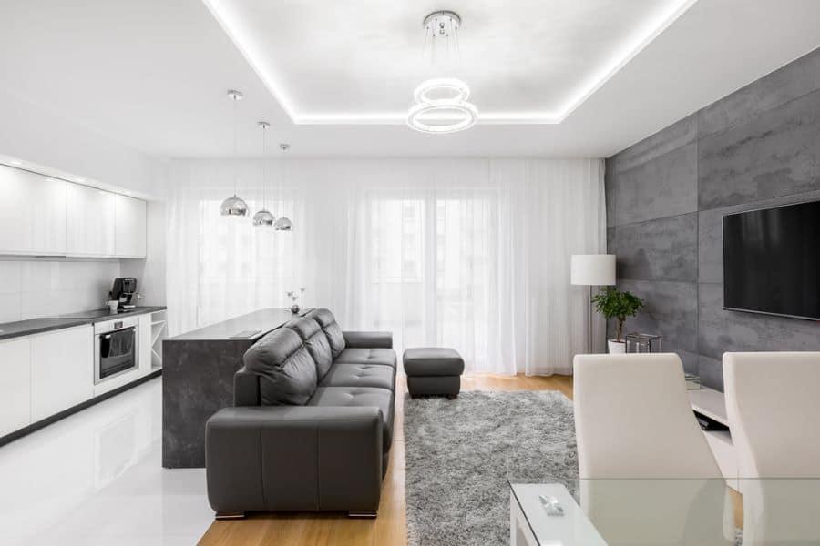 White Family Room Ideas 9