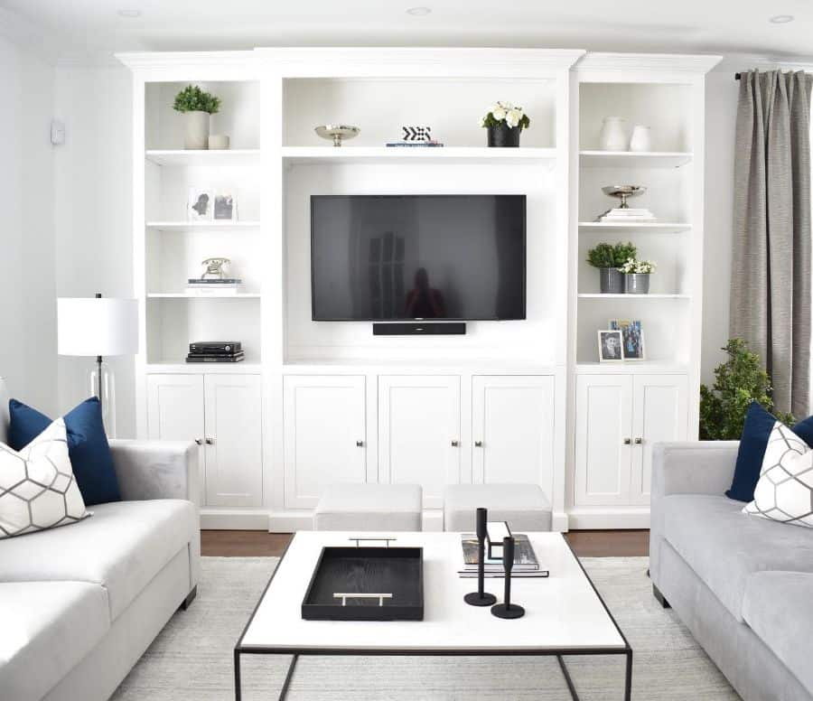 White Family Room Ideas Boutiquecassine