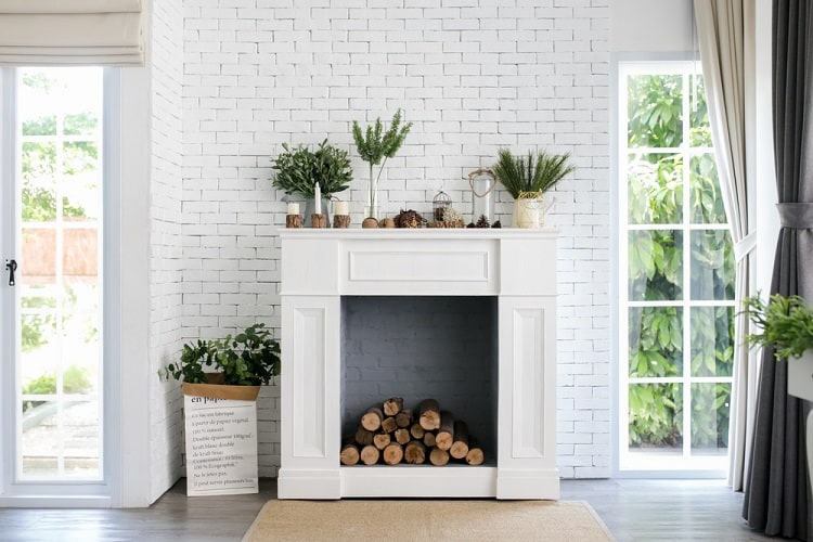 White Fireplace Mantel Decor Ideas