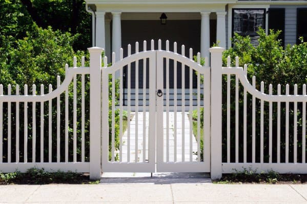 White Front Yard Fence Home Ideas