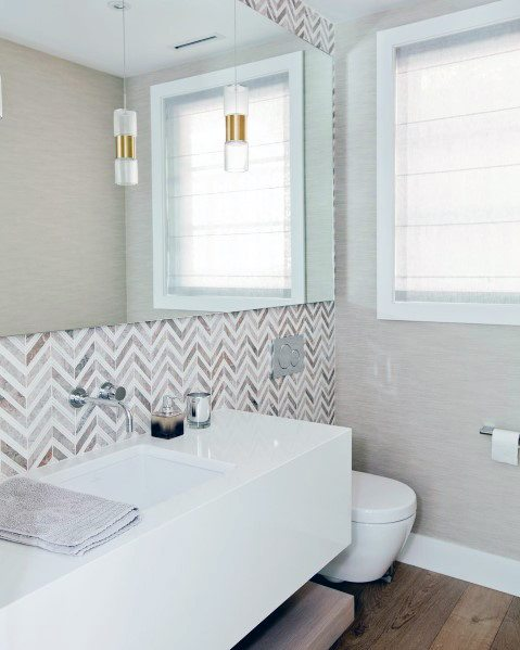 White Glossy Bathroom Vanity Ideas