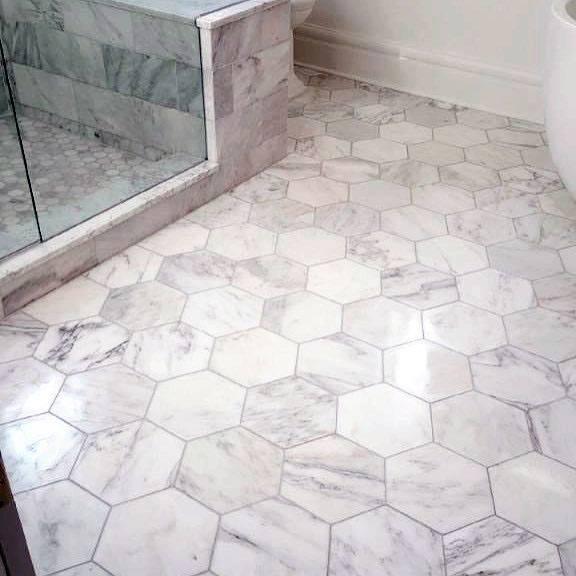 Bathroom Floor Marble Tile Ideas