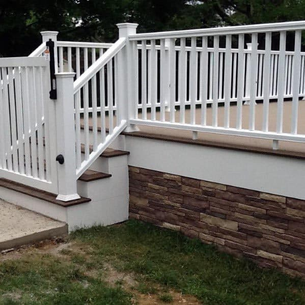 White Home Design Ideas Deck Gate