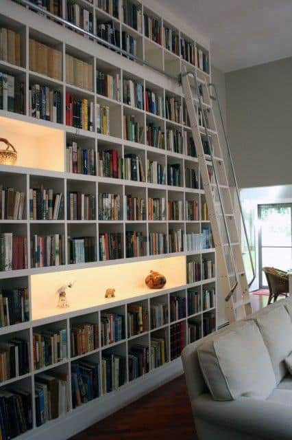 White Home Library Bookcases