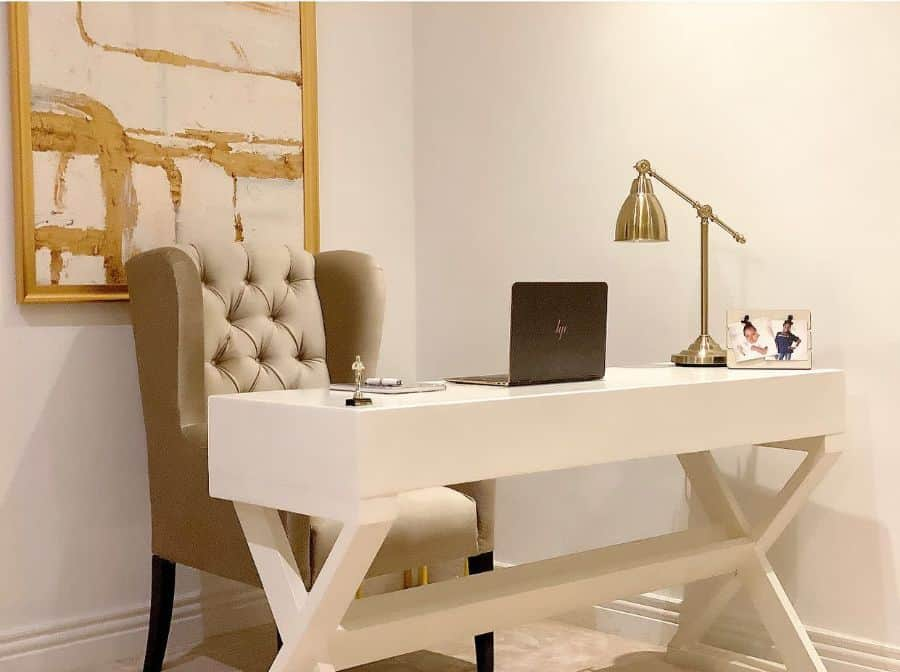 white home office desk ideas ocdbyfoomz