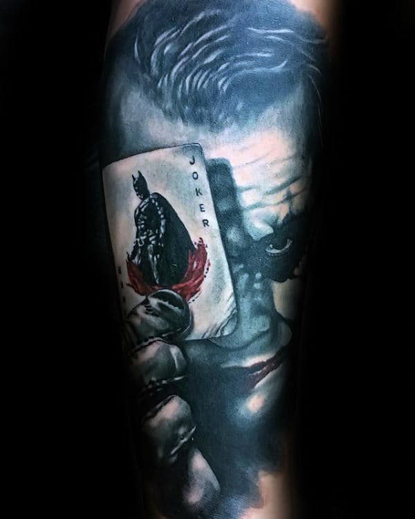 Joker Card Tattoo Ideas: Joker Tattoo Ideas That Don't Suck—90 Badass Joker Tattoos