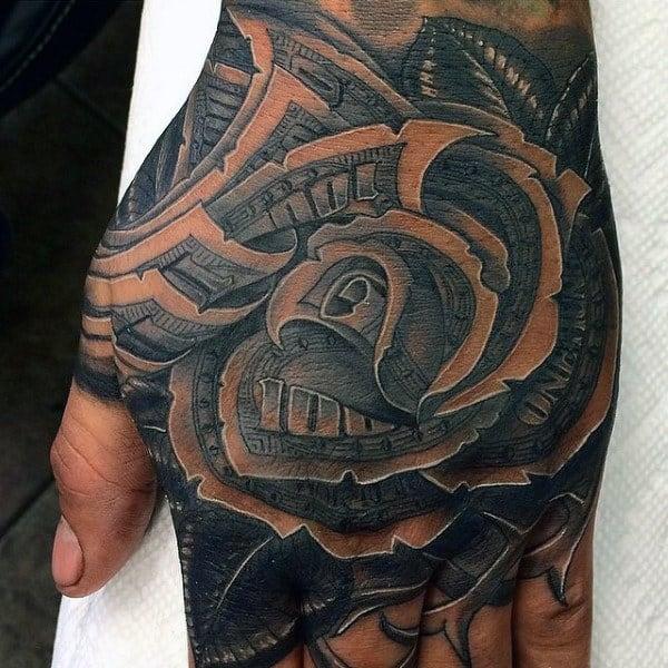 nexluxury money 17 rose hand tattoos